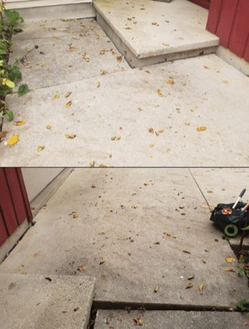 Lifting, Leveling, and Repairing a Concrete Driveway and Walkway in Neenah, WI