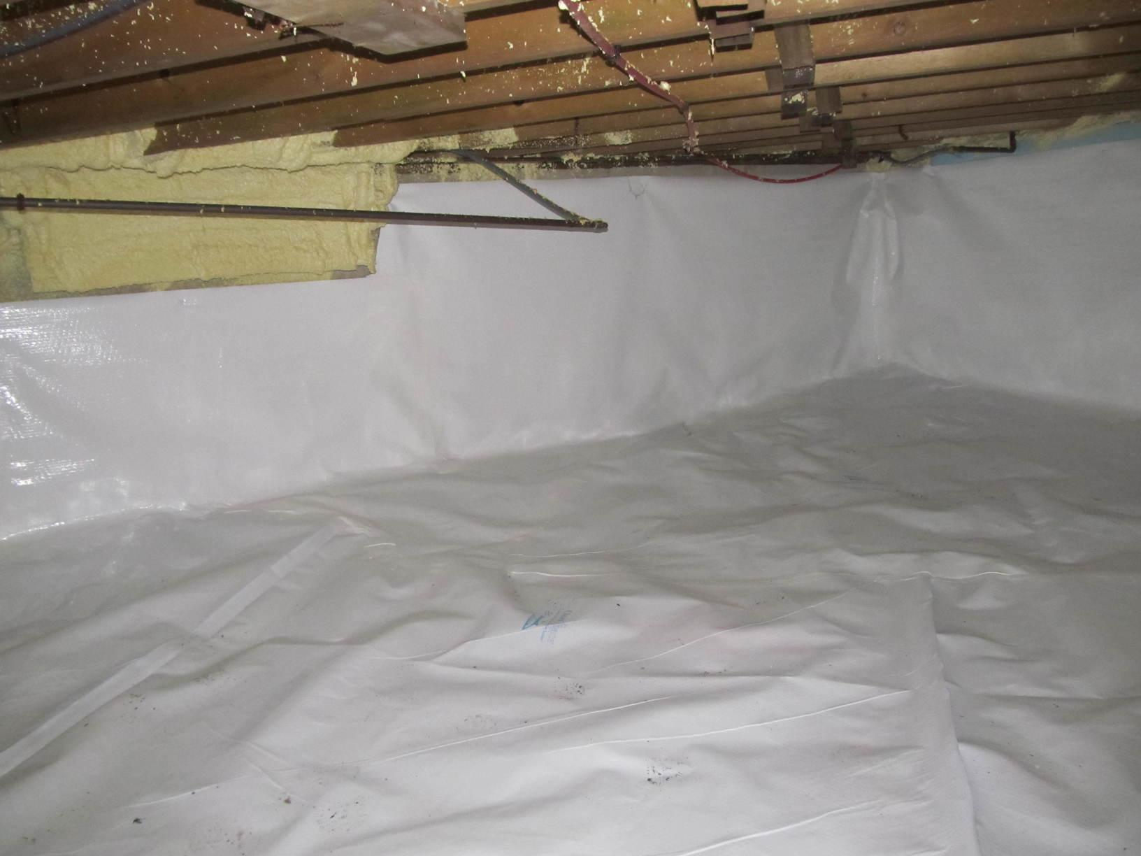 Wet Crawl Space Transformed in North Hampton, NH - After Photo