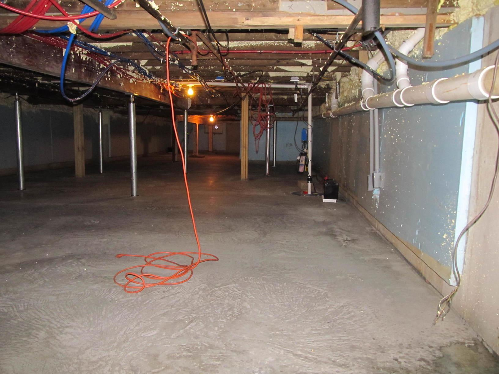 Wet Basement with Unstable Foundation in North Hampton, NH - After Photo