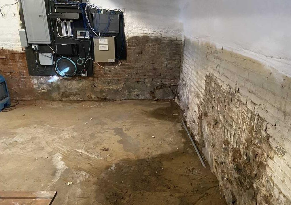 Fresh Basement Slab with WaterGuard Piping Saves South Berwick, ME Basement from Moisture - Before Photo