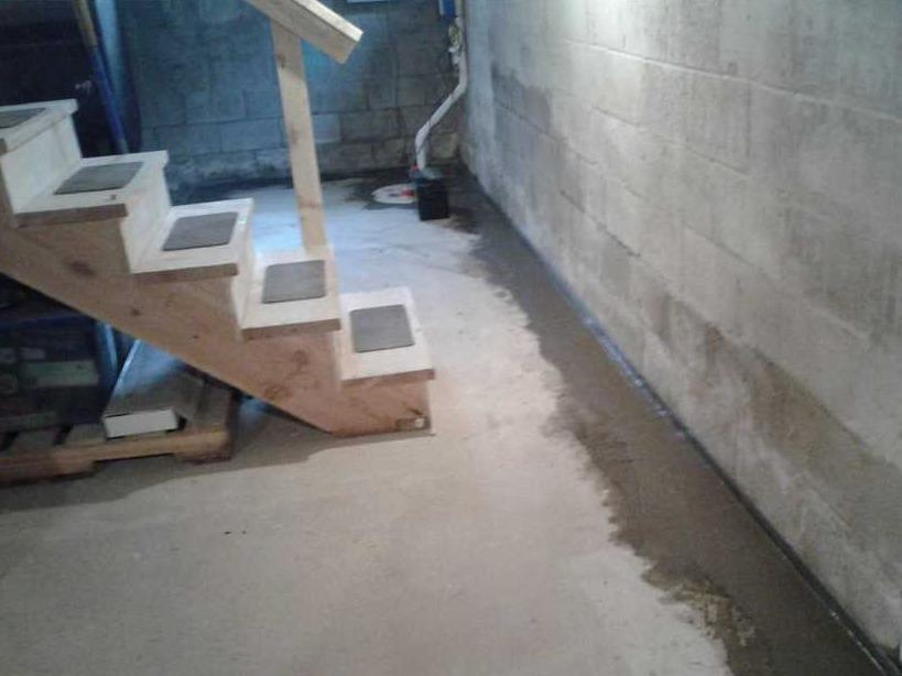WaterGuard Installation Keeps Kittery, ME Basement Water-Free - After Photo
