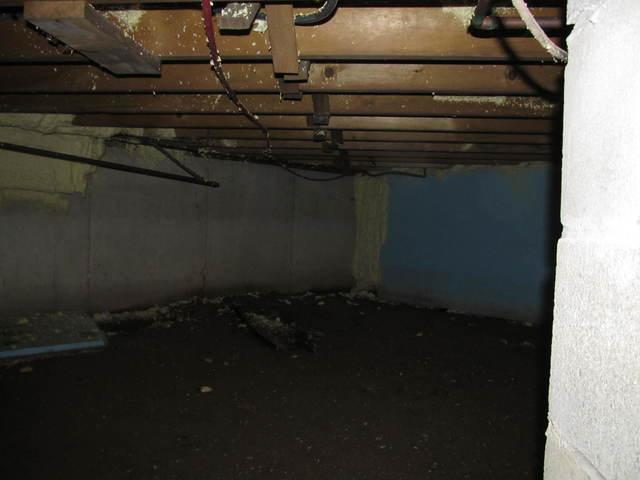 Wet Crawl Space Transformed in North Hampton, NH - Before Photo