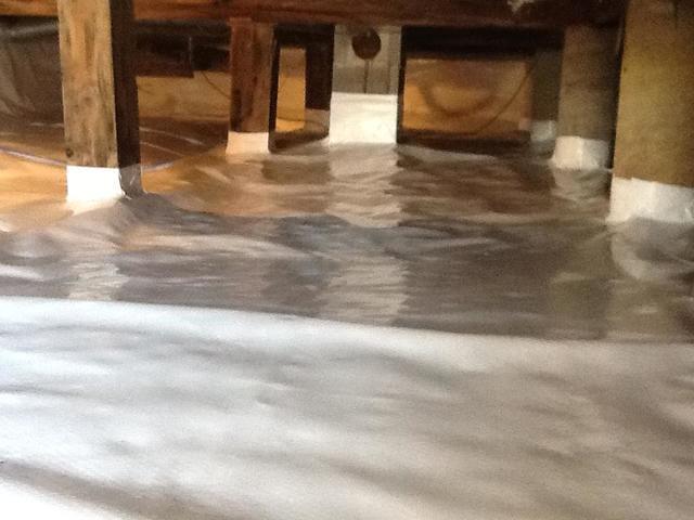 Damp Crawl Space in Saco, Maine