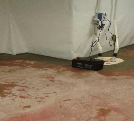 Leaking Falmouth, ME Basement Protected with WaterGuard Installation