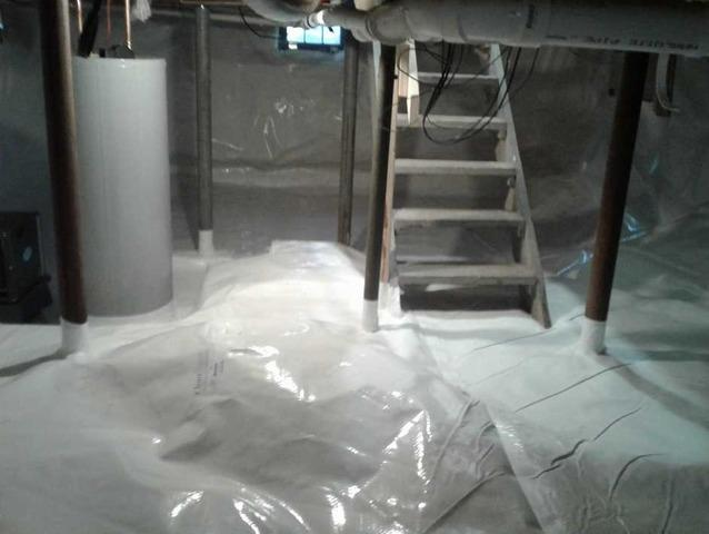 CleanSpace Encapsulation Protects Kennebunkport, ME Crawlspace from the Elements - After Photo
