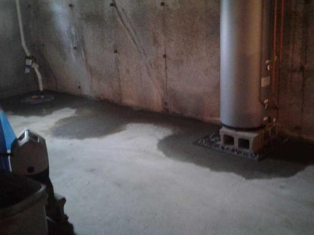 Wet Lebanon, ME Basement Given Proper Waterproofing with WaterGuard Installation