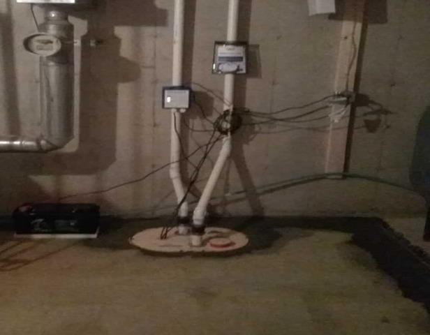 WaterGuard & TripleSafe Installations Protect Hermon, ME Basement from Moisture
