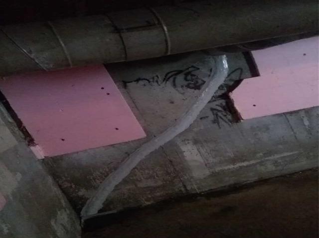 Leaking Cracks in Dexter, ME Basement Sealed with FlexiSpan Application