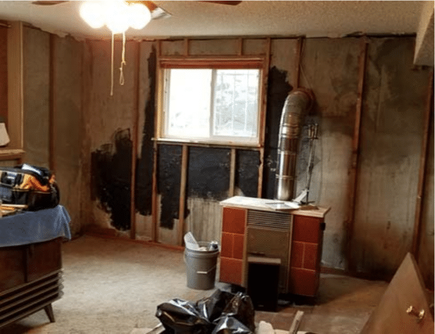 Basement waterproofing in Lakewood, WA - Before Photo