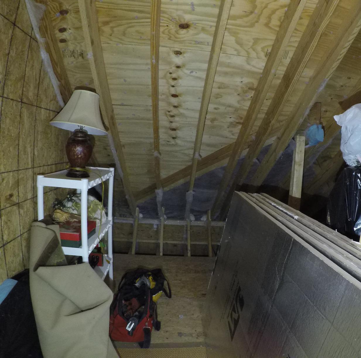 Sandston, VA Radiant Barrier Insulation Board - Before Photo