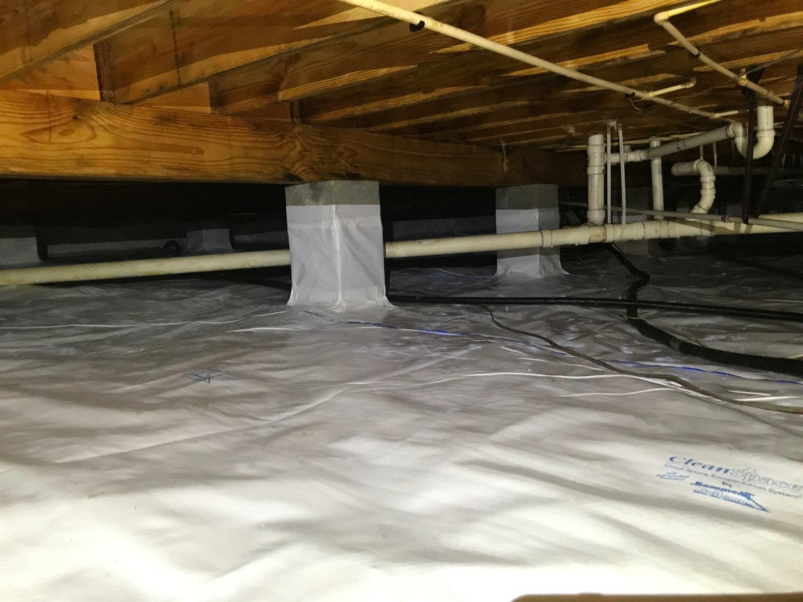 Utility lines in crawl space in New Kent, VA - After Photo