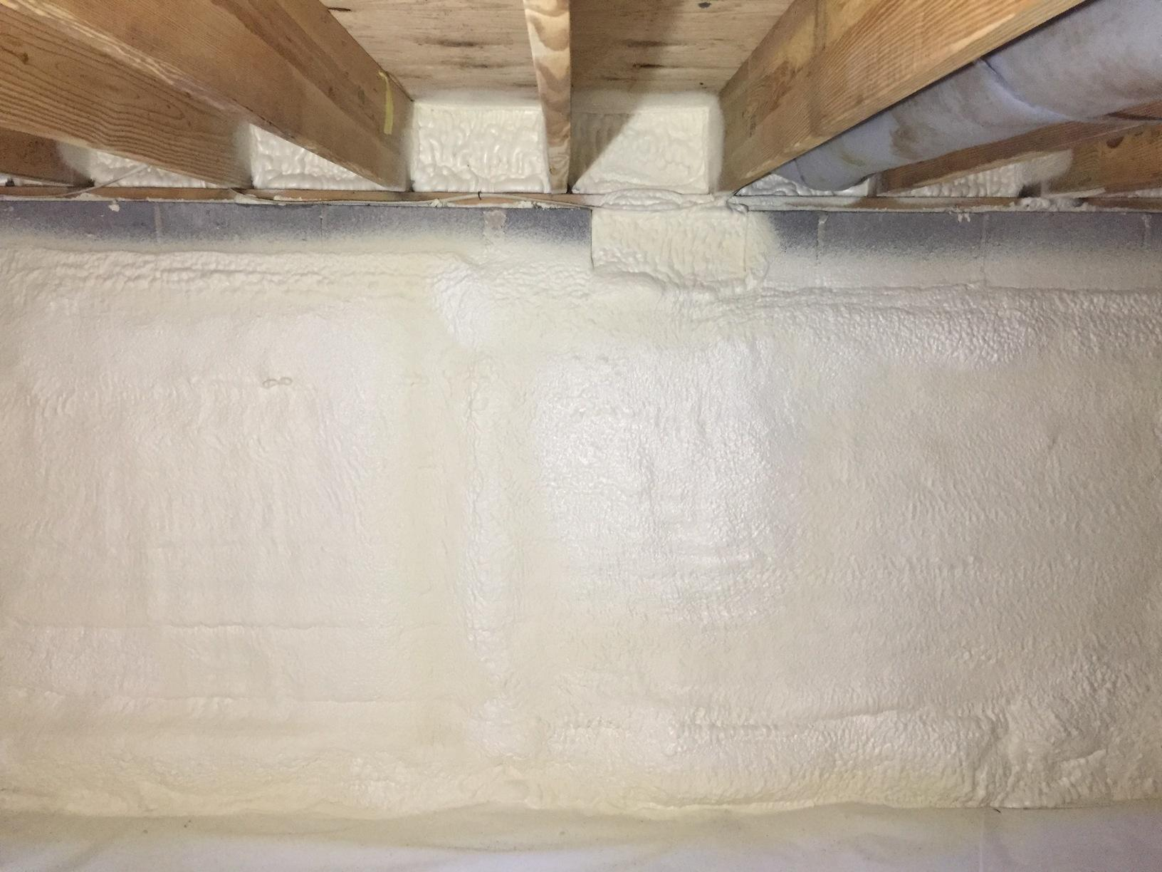 Spray Foam & Vapor Barrier - Richmond Crawl Space Encapsulation - After Photo