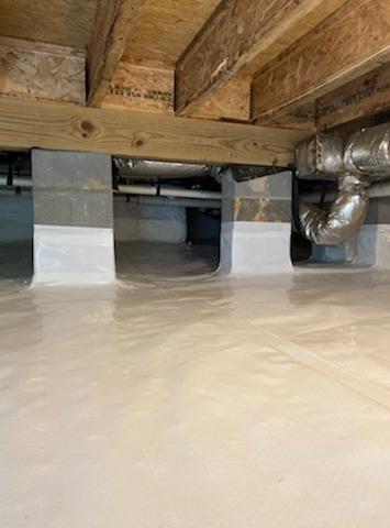 Clean Space & Spray Foam in Williamsburg, VA Crawl Space - After Photo