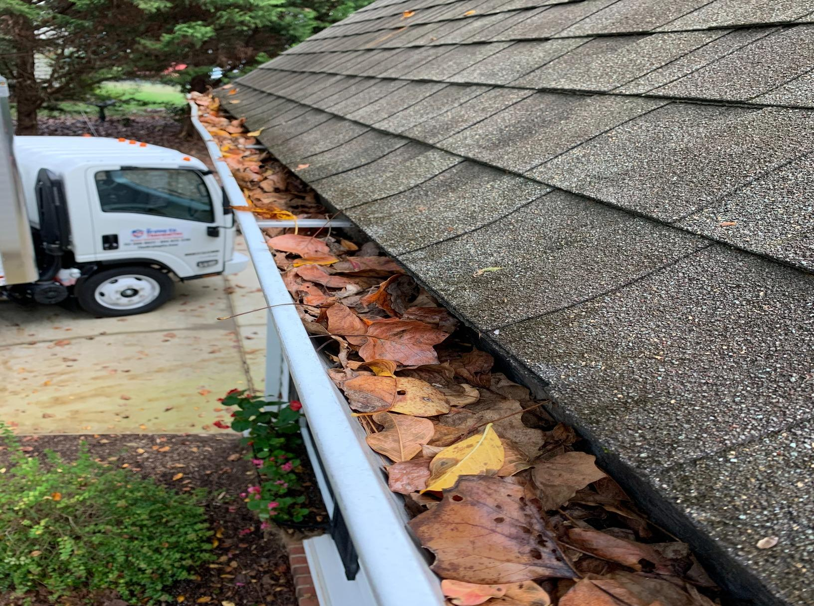 Gutter Installation in Toano, VA - Before Photo