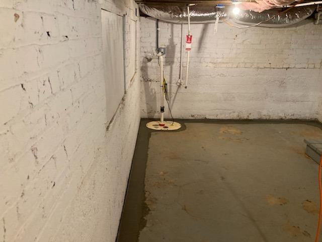 Installing a Basement Super Sump in Richmond, VA - After Photo