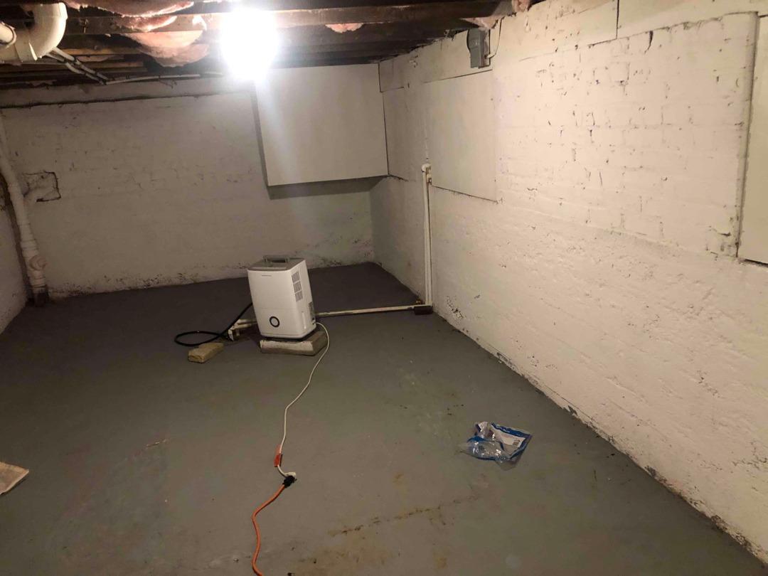 Installing a Basement Super Sump in Richmond, VA - Before Photo