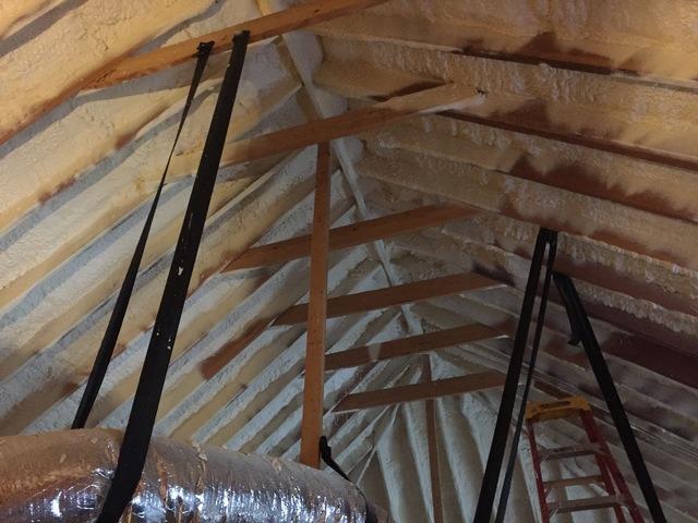 Spray Foam Insulation in Attic Rafters