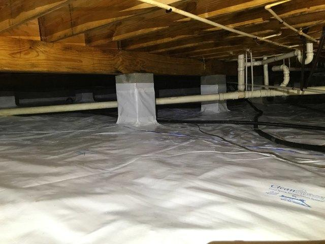 Utility lines in crawl space in New Kent, VA