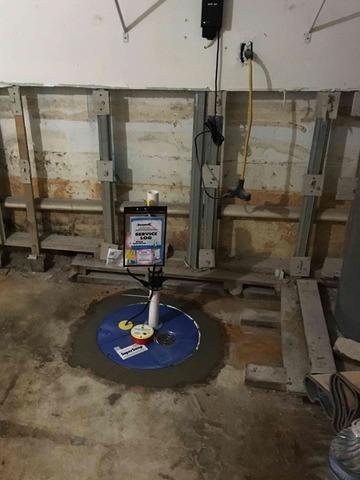 SuperSump Pump in Newport News, VA Basement
