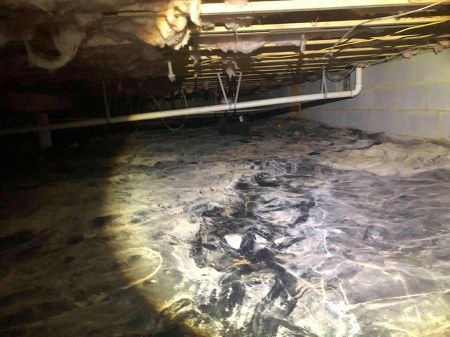 Sealing a Crawl Space in West Point, VA - Before Photo