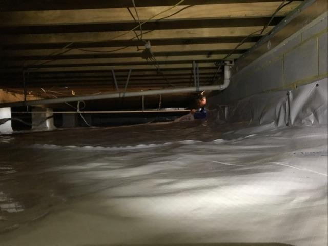 Sealing a Crawl Space in West Point, VA - After Photo