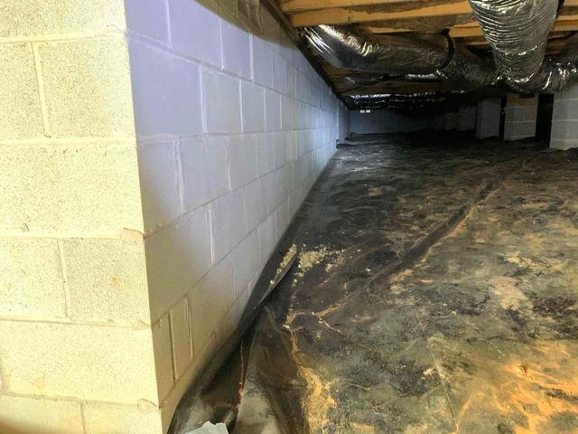 Spray Foam on Foundation Walls - Toano, VA