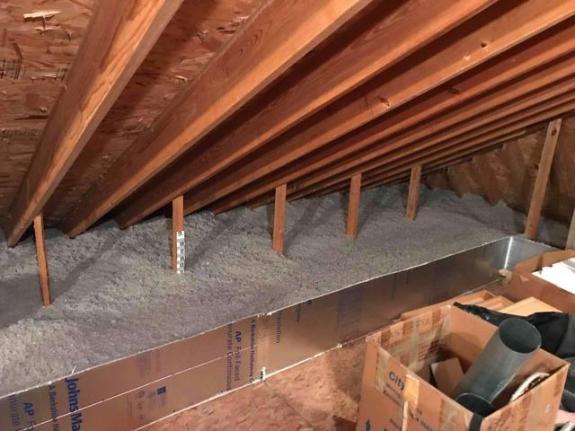Insulating an Attic with Cellulose in Surry, VA