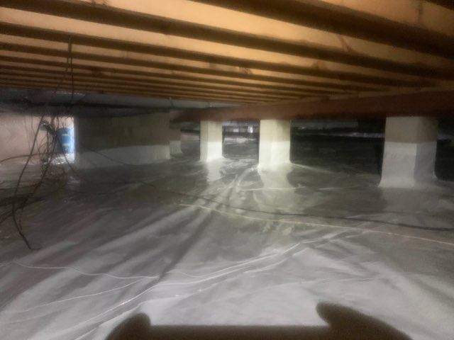 Repairing a N. Chesterfield, VA Crawl Space - After Photo