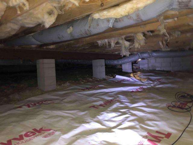 Repairing a N. Chesterfield, VA Crawl Space - Before Photo