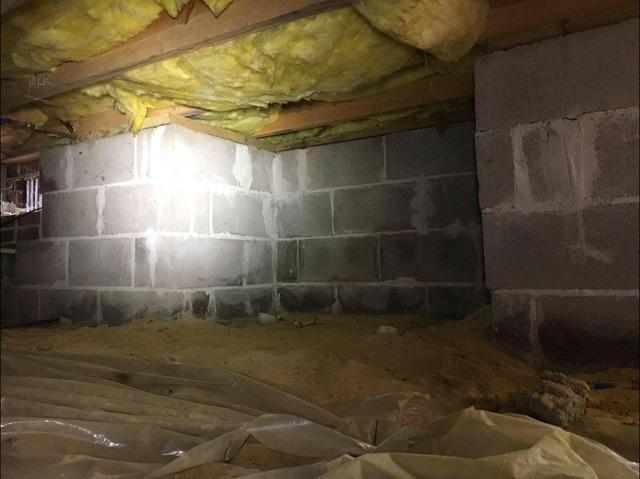 Foam Board Insulation in a Yorktown, VA Crawl Space