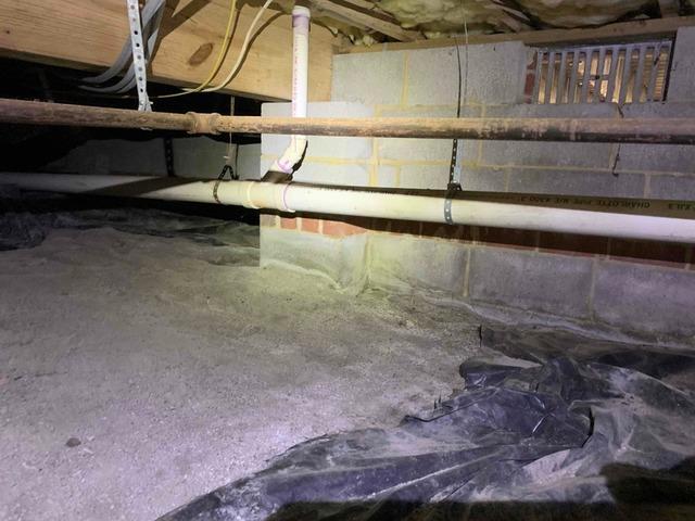 Spray Foam on Foundation Walls in Glen Allen, VA - Before Photo