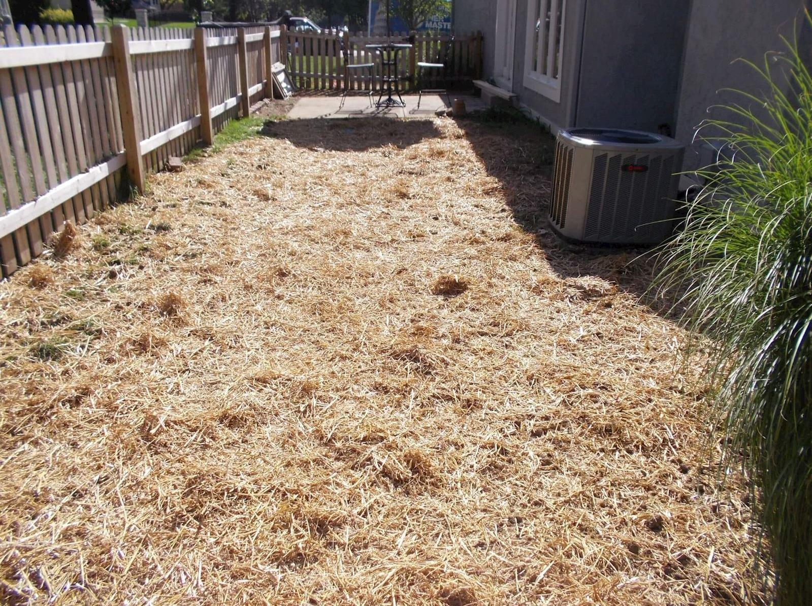 French Drain or Curtain Drain Installation - After Photo