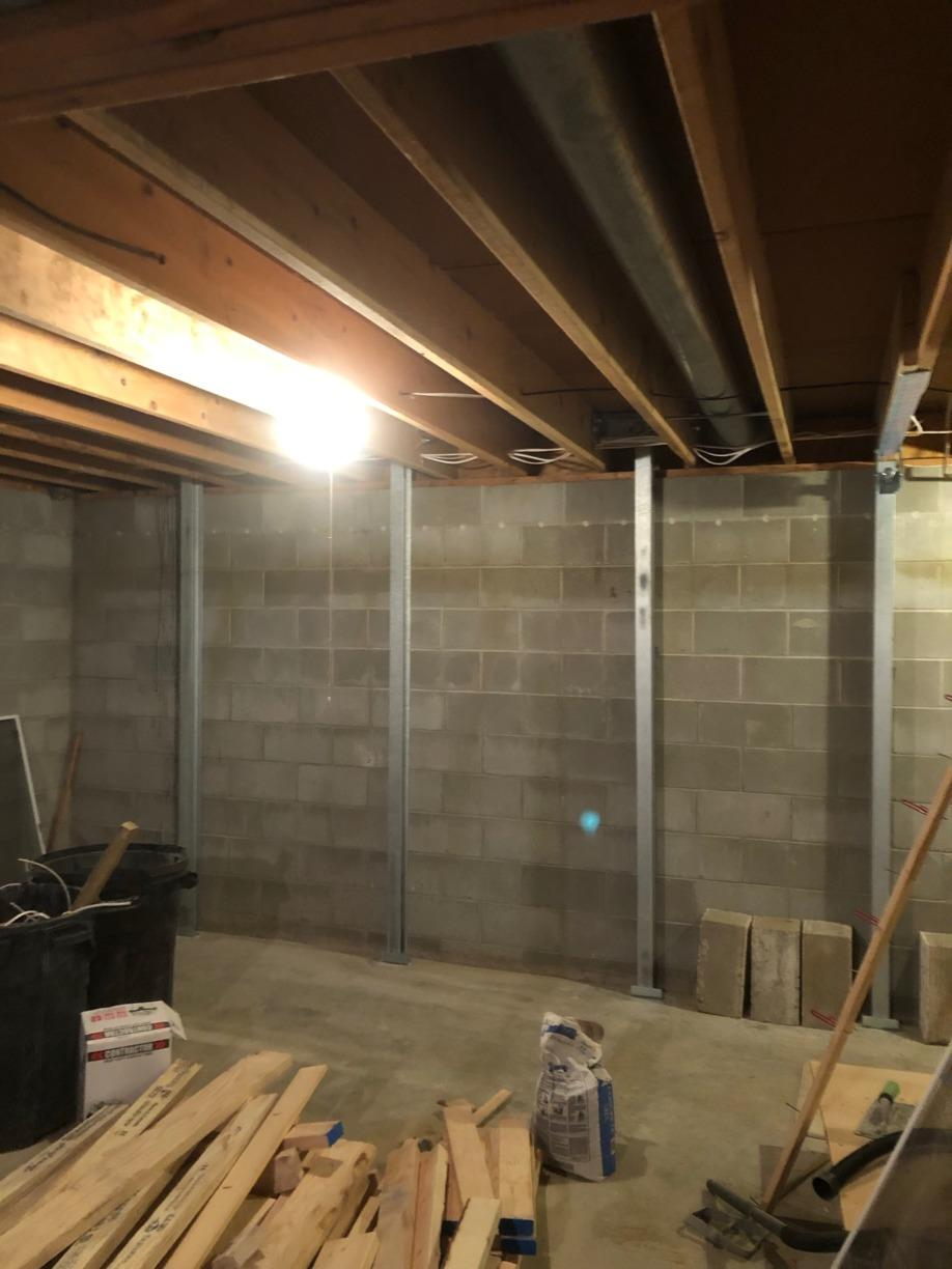 Power Braces fixed bowing walls in Norfolk, NE - After Photo