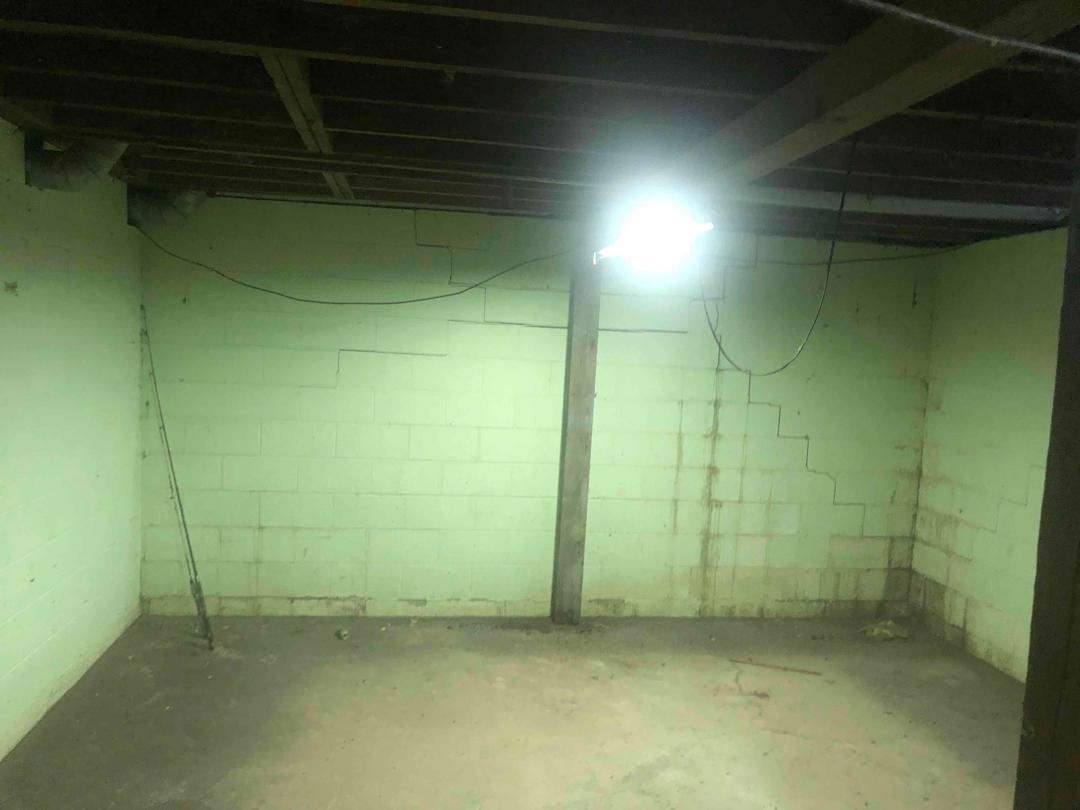 Home in Staplehurst, NE restored with Carbon Armor, C-Channels, and Triple Safe Sump Pump - Before Photo