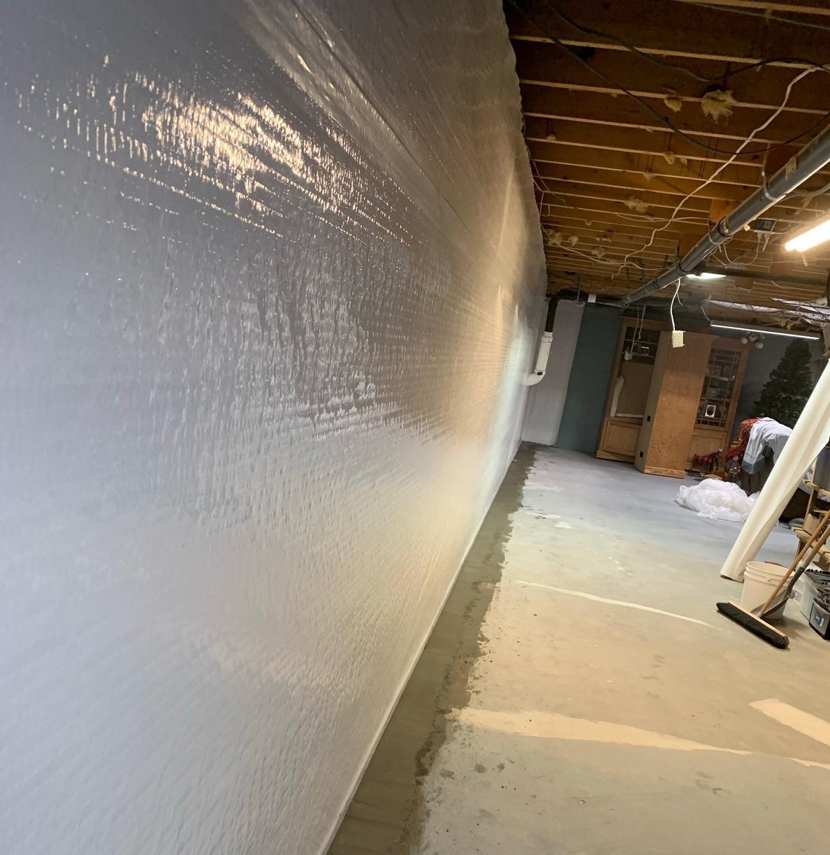 Basement Waterproofing in Mayfield, KS - After Photo