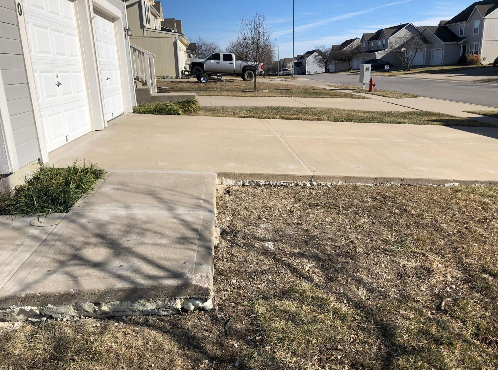 PolyLevel Restored Concrete in Louisburg, KS - After Photo