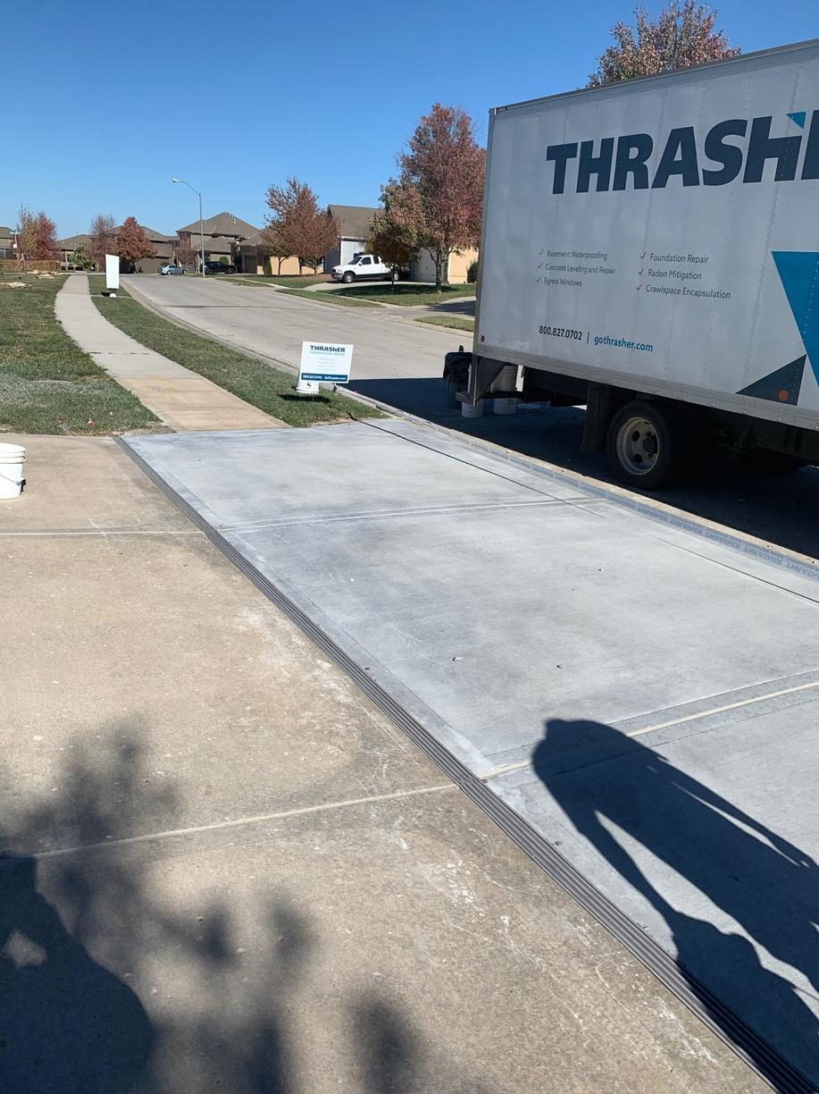 Crumbling Driveway in Raymore, MO Repaired - After Photo