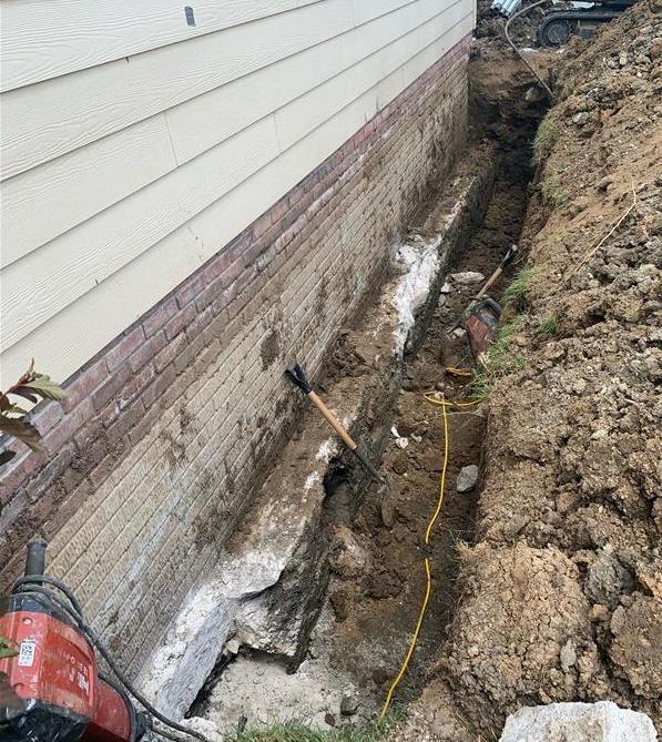 Garage Foundation Repair in Papillion, NE - Before Photo