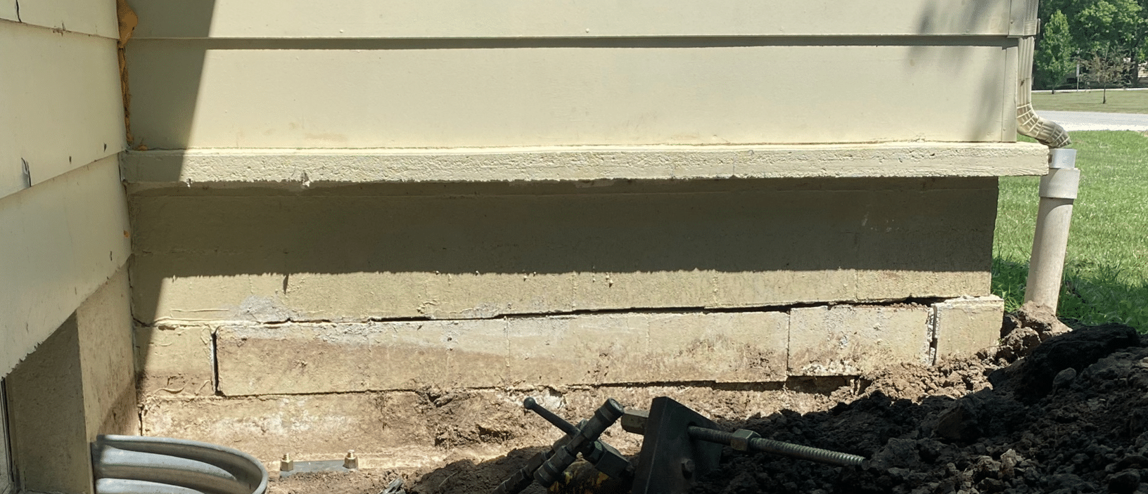 Foundation Crack Fixed in Americus, KS - After Photo
