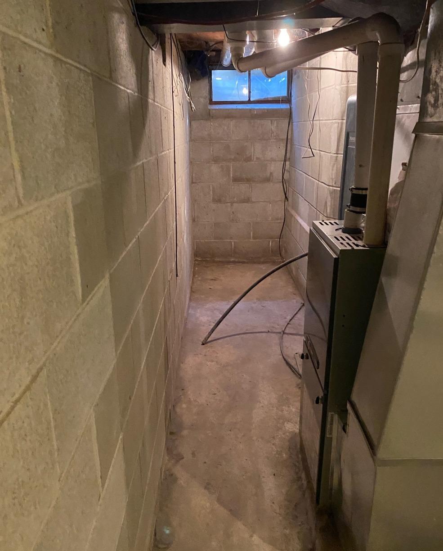 Foundation Repair and Waterproofing in Nemaha, IA - Before Photo