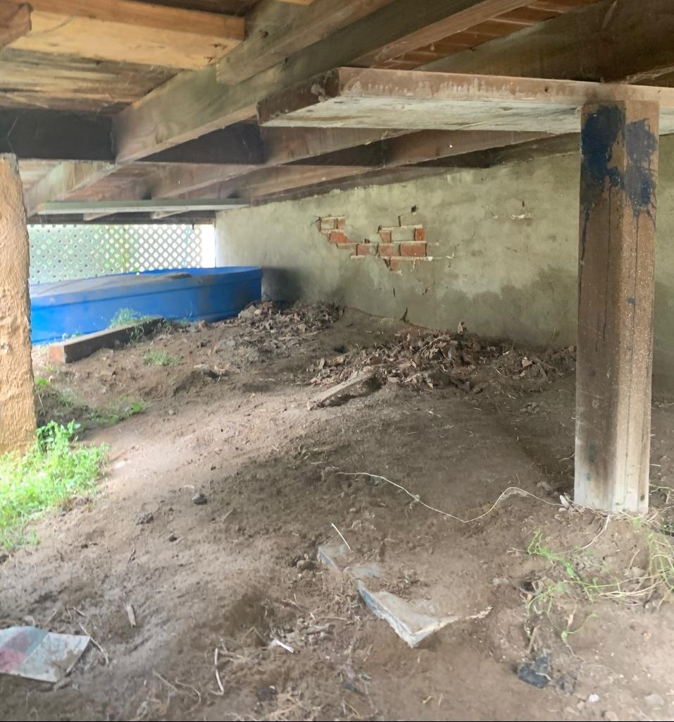 Porch Foundation Repair in Omaha, NE - Before Photo
