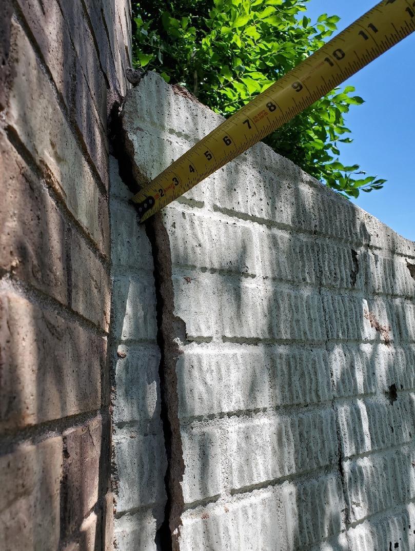 Foundation Repair in Hickman, NE - Before Photo