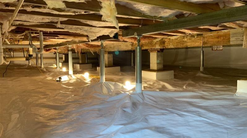 Crawl Space Encapsulation in Marshfield, MO - After Photo
