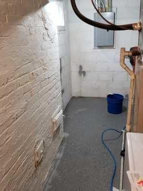 Dry Basement with waterproofing and clean space in Des Moines, IA.