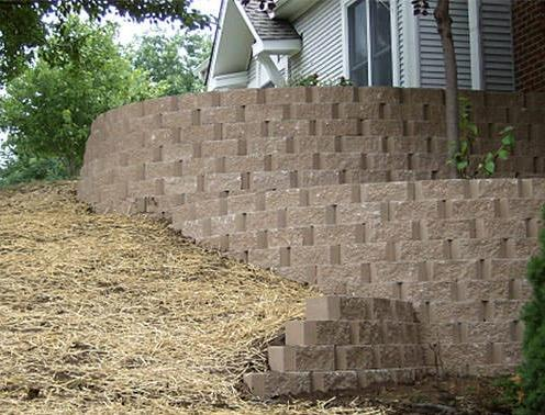 Retaining Wall Replacement - After Photo