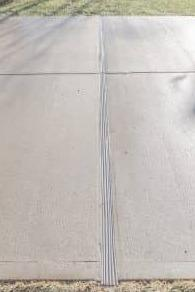 Concrete Expansion Joint Prevents Driveway Cracking and Structural Damage - After Photo