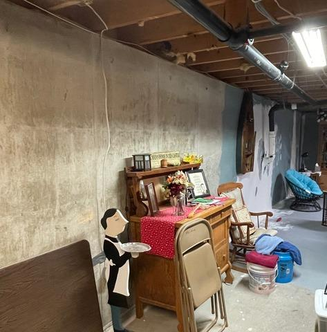 Basement Waterproofing in Mayfield, KS - Before Photo