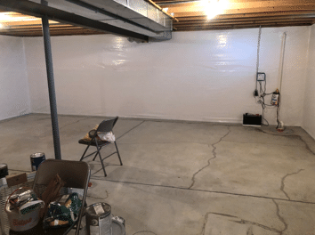 Basement Water Intrusion in Bellevue, NE - After Photo
