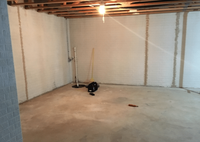 Basement Waterproofing in Omaha, NE - Before Photo