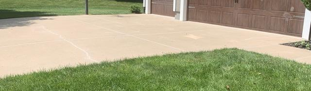 Mudjacked Driveway Repaired in Overland Park, KS - After Photo